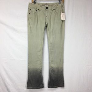 Free People Light Gray Ombre Bootcut Jeans